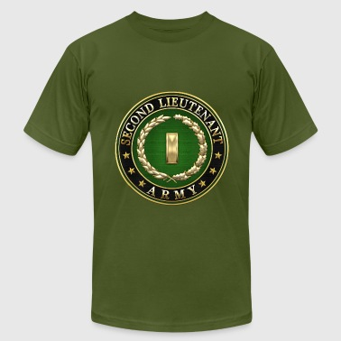 Rank Insignia Second Lieutenant (2LT) Rank Insignia 3D  - Men's Fine Jersey T-Shirt