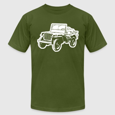 Willys Jeep (diff. color) - Men's Fine Jersey T-Shirt