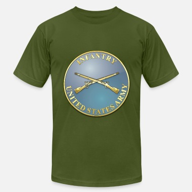 Infantry Insignia Infantry Branch Plaque - Men's Fine Jersey T-Shirt