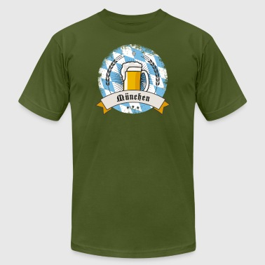 Lol Beer munich oktoberfest more beer drink craft party lol - Men's Fine Jersey T-Shirt