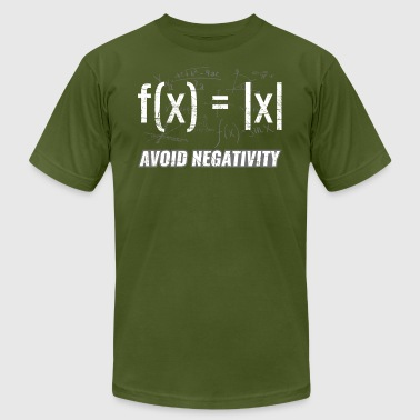 Maths Functions ➢ Avoid Negativity Equations - Men's Fine Jersey T-Shirt