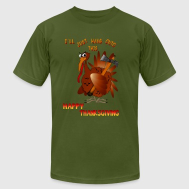 Axe Turkey With An AX - Men's Fine Jersey T-Shirt