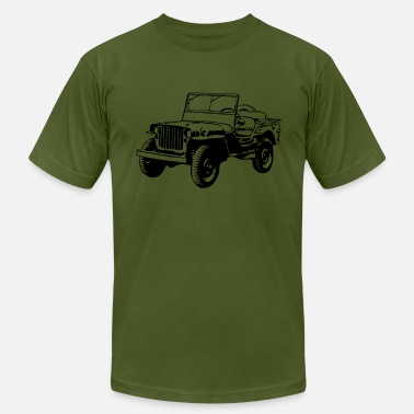 Jeep Willys Jeep (1 color) - Men's Fine Jersey T-Shirt