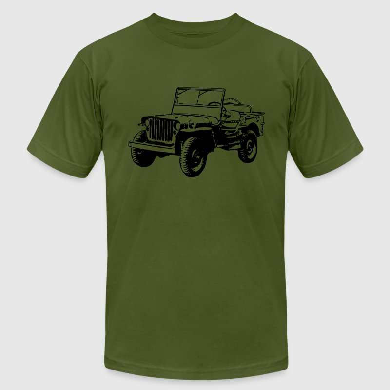 Willys Jeep (1 color) - Men's Fine Jersey T-Shirt