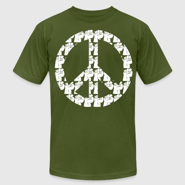 Iconic Political Issues Kantno Peace Sign - Men's Fine Jersey T-Shirt