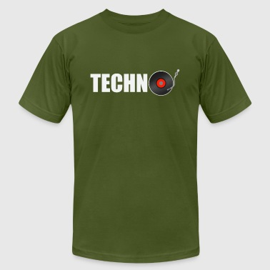 Techno Music Symbols techno music - Men's Fine Jersey T-Shirt