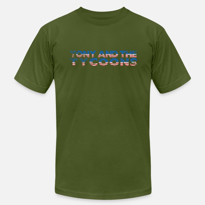Band T-Shirts - Tony and The Tycoons - Men's Jersey T-Shirt olive