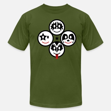 Heavy Metal Icons Smile Rock - Smiley Icons (quadratic) 3c - Men's  Jersey T-Shirt