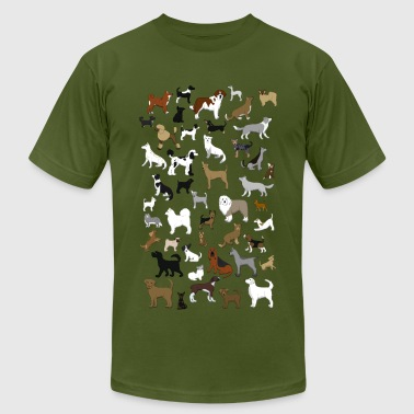 many dogs pixel - Men's Fine Jersey T-Shirt