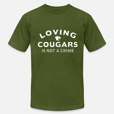 Cougar Love Loving Cougars - Men's  Jersey T-Shirt