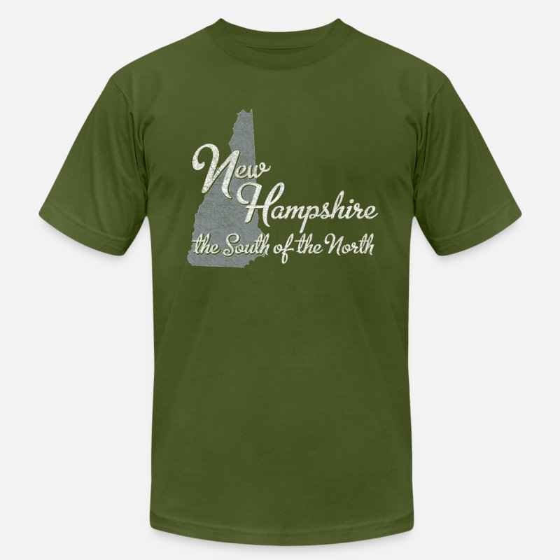 Hampshire T-Shirts - New Hampshire the South of the North - Men's Jersey T-Shirt olive