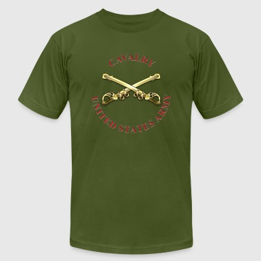Cavalry Branch Insignia - Men's Fine Jersey T-Shirt