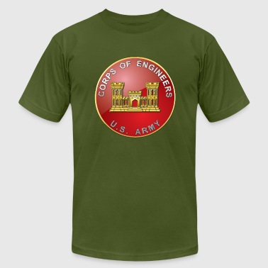 USACE Branch Plaque - Men's Fine Jersey T-Shirt
