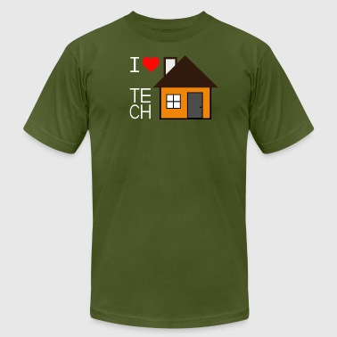 I Love Tech House - Men's Fine Jersey T-Shirt