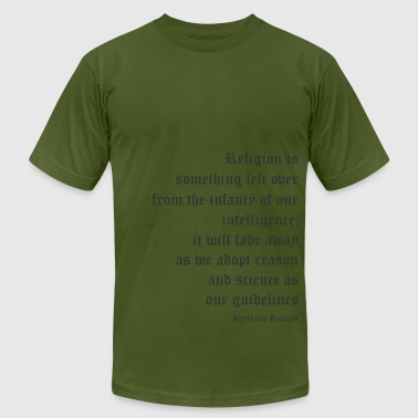 Anti-religion Bertrand Russell - Religion is Something Left Over - Men's Fine Jersey T-Shirt