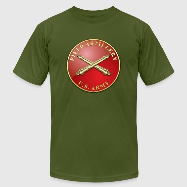 Field Artillery Branch Plaque - Men's Fine Jersey T-Shirt