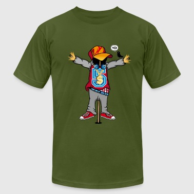 A scarecrow in Hip Hop Style  - Men's Fine Jersey T-Shirt