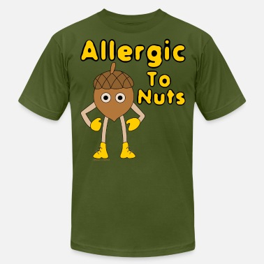Allergy Allergic to Nuts - Men's Fine Jersey T-Shirt