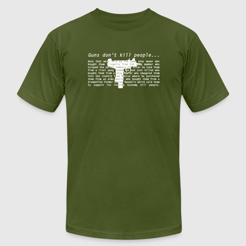 Guns Don't Kill People - Men's Fine Jersey T-Shirt