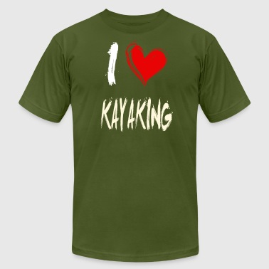 I Love Kayak I love KAYAKING - Men's Fine Jersey T-Shirt