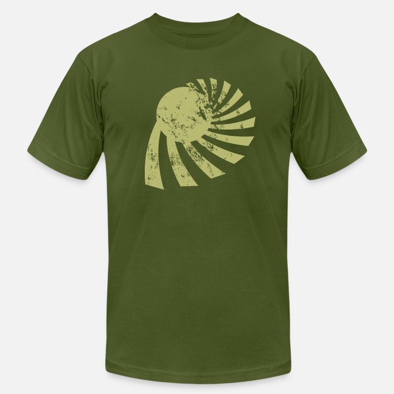 Asian T-Shirts - Vintage Sun and Chinese Tower Green - Men's Jersey T-Shirt olive