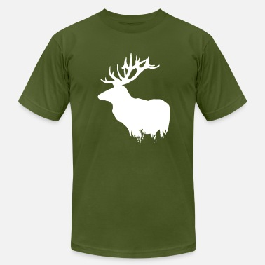 Elk Hunting Deer - Men's  Jersey T-Shirt