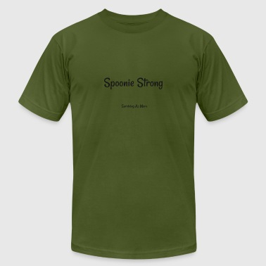 Spoonie Strong black - Men's Fine Jersey T-Shirt