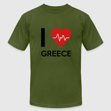 I Love Greece - Men's Fine Jersey T-Shirt
