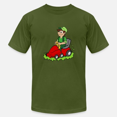 Lawn Mower Gardener - Men's Jersey T-Shirt