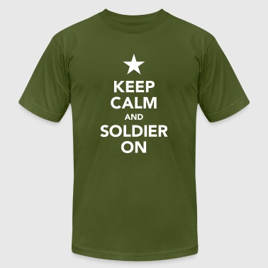 keep calm and soldier on - us star - Men's Fine Jersey T-Shirt