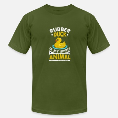 Rubber Duck Funny duck shirt - Rubber Duck Is My Spirit Animal - Men's Fine Jersey T-Shirt