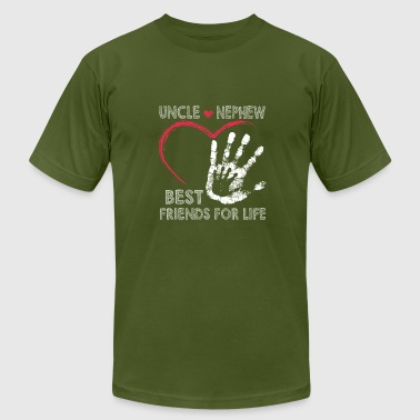 Uncle and nephew best friends for life - Men's Fine Jersey T-Shirt