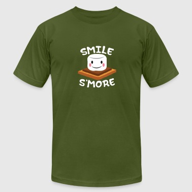 Funny Kids Camping T-Shirt Gift Marshmallow Lover - Men's Fine Jersey T-Shirt