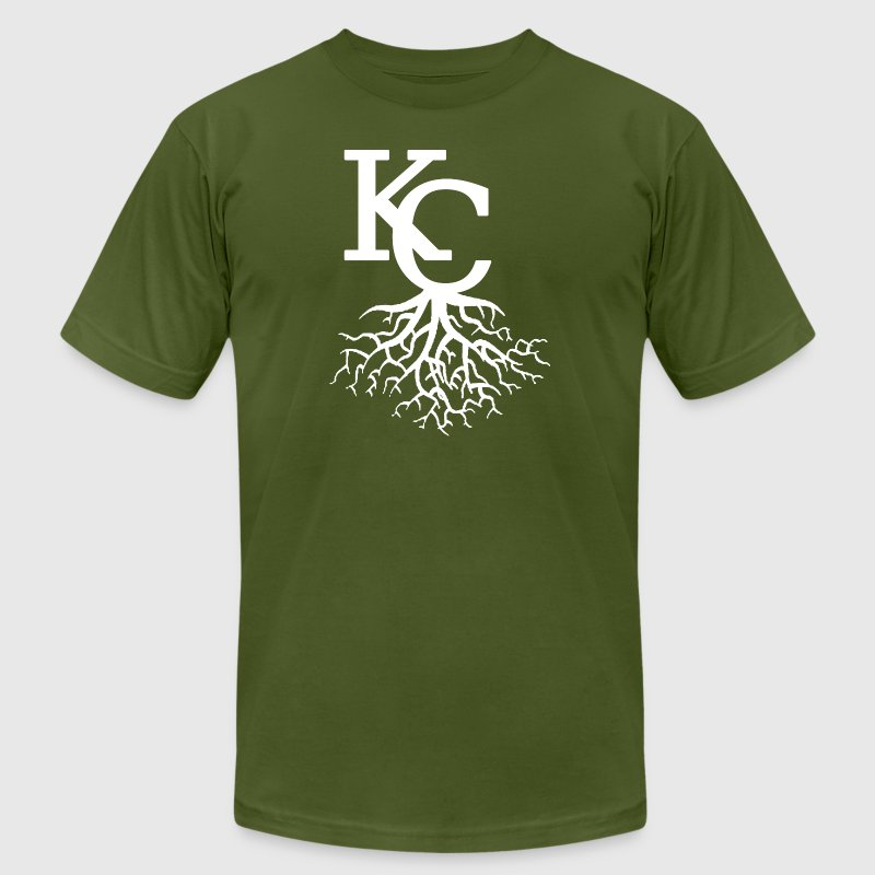 KC Roots Clothing Apparel Shirts - Men's Fine Jersey T-Shirt