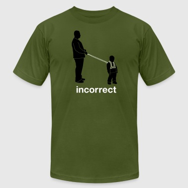 Incorrect Incorrect: Child Leash - Men's Fine Jersey T-Shirt