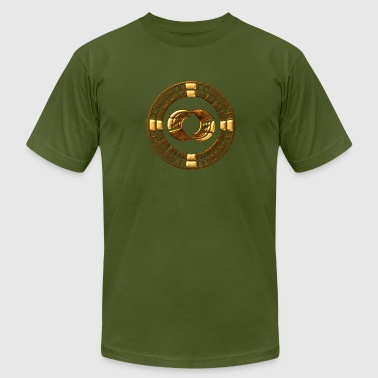 Crop Maya Time-Wheel - crop circle - Silbury Hill - Men's Fine Jersey T-Shirt