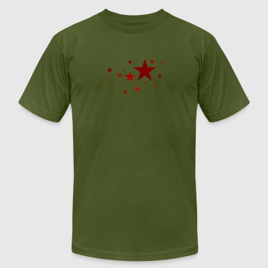 Stars in red - Men's Fine Jersey T-Shirt