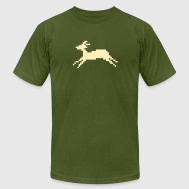 jumping deer (1 color) - Men's Fine Jersey T-Shirt