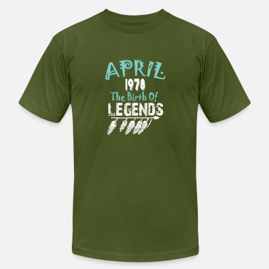 Birth Year 1978 April 1978 The Birth Of Legends - Men's  Jersey T-Shirt