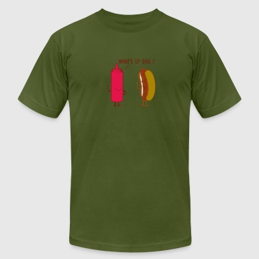 What Up Dog Ketchup Hot Dog - Men's Fine Jersey T-Shirt