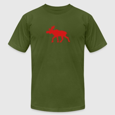 moose (1 color) - Men's Fine Jersey T-Shirt