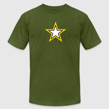 Army Star - Men's Fine Jersey T-Shirt