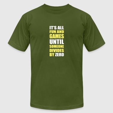 Dividing By Zero divides by zero - Men's Fine Jersey T-Shirt