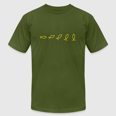 Evolution explained - Men's Fine Jersey T-Shirt