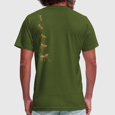 Art Army artTS collage art ARMY of ANTS vintage brownz - Men's Fine Jersey T-Shirt