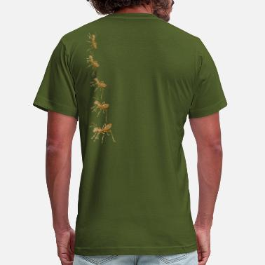 Art Army artTS collage art ARMY of ANTS vintage brownz - Men's  Jersey T-Shirt