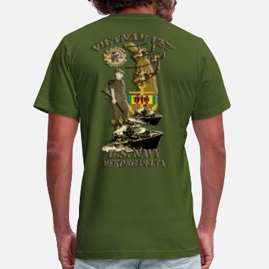 Mekong Delta PBR map with yellow borderRED WITH ANCHOR AND VSM  T-Shirts - Men's  Jersey T-Shirt
