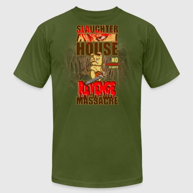 evil animals: the chainsaw pig - Men's Fine Jersey T-Shirt