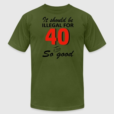 Funny 40th year old birthday designs - Men's Fine Jersey T-Shirt