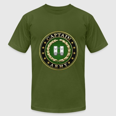 Captain (CPT) Rank Insignia 3D  - Men's Fine Jersey T-Shirt